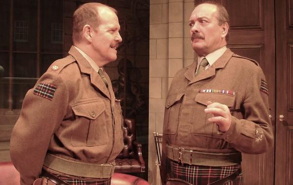 Major Jock Sinclair & RSM Mr Riddick